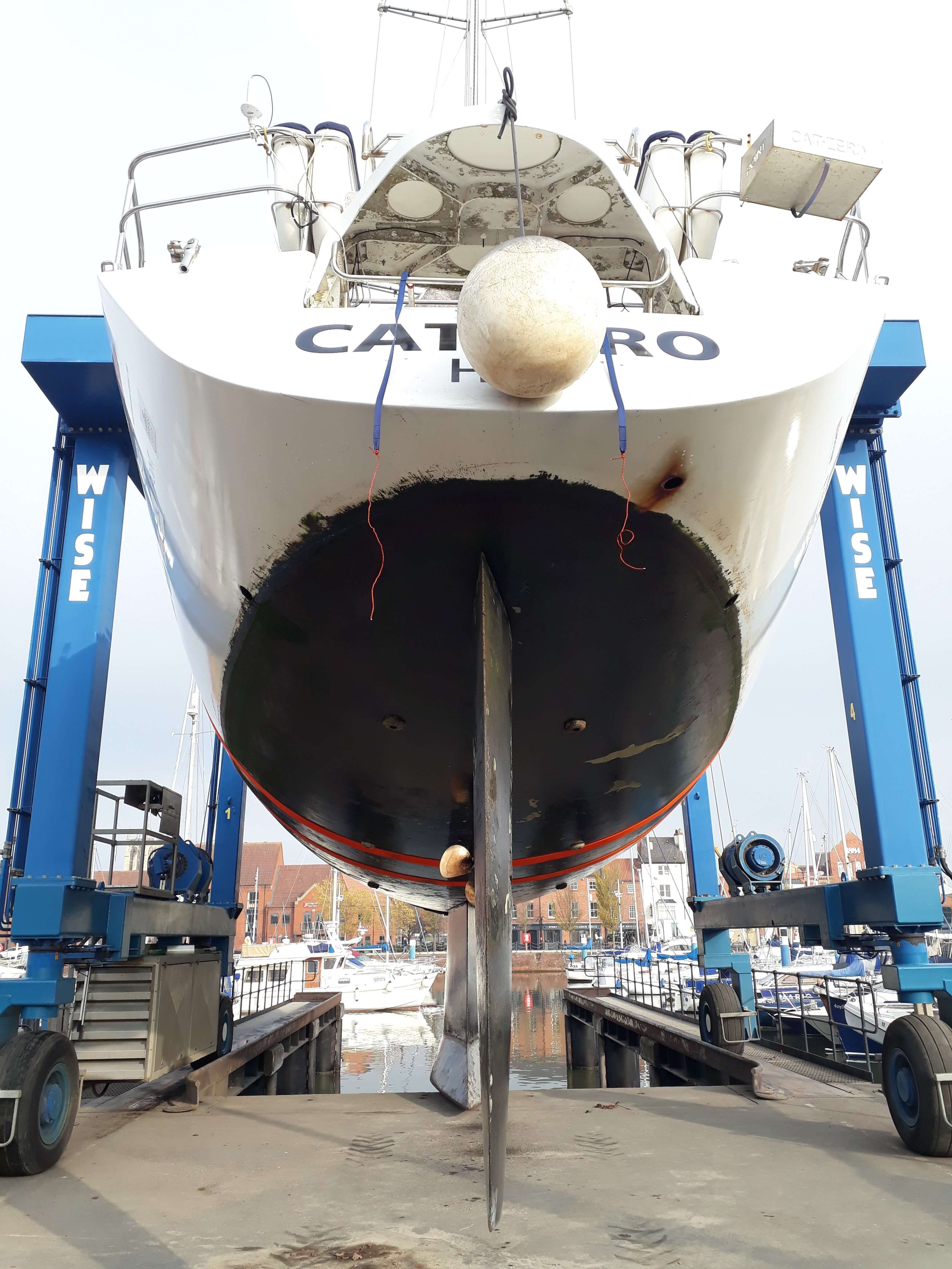 CatZero's on dry land for its winter spruce-up
