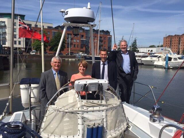 MP Emma praises CatZero after yacht tour